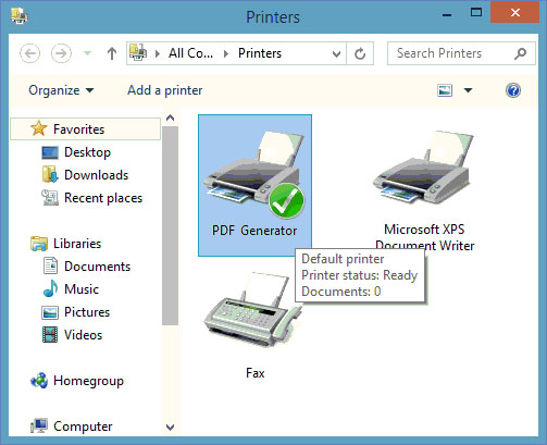 PDF Generator for Windows 8 screenshot